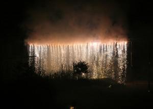 Bodenfeuerwerk - Wasserfall